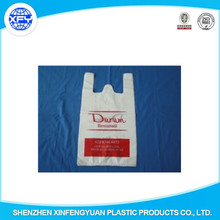 HDPE &LDPE PLASTIC biodegradable t shirt shopping bags/vest carrier bags