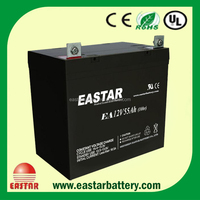 high quality 12v 55ah AGM Sealed Lead Acid Battery solar pannel battery