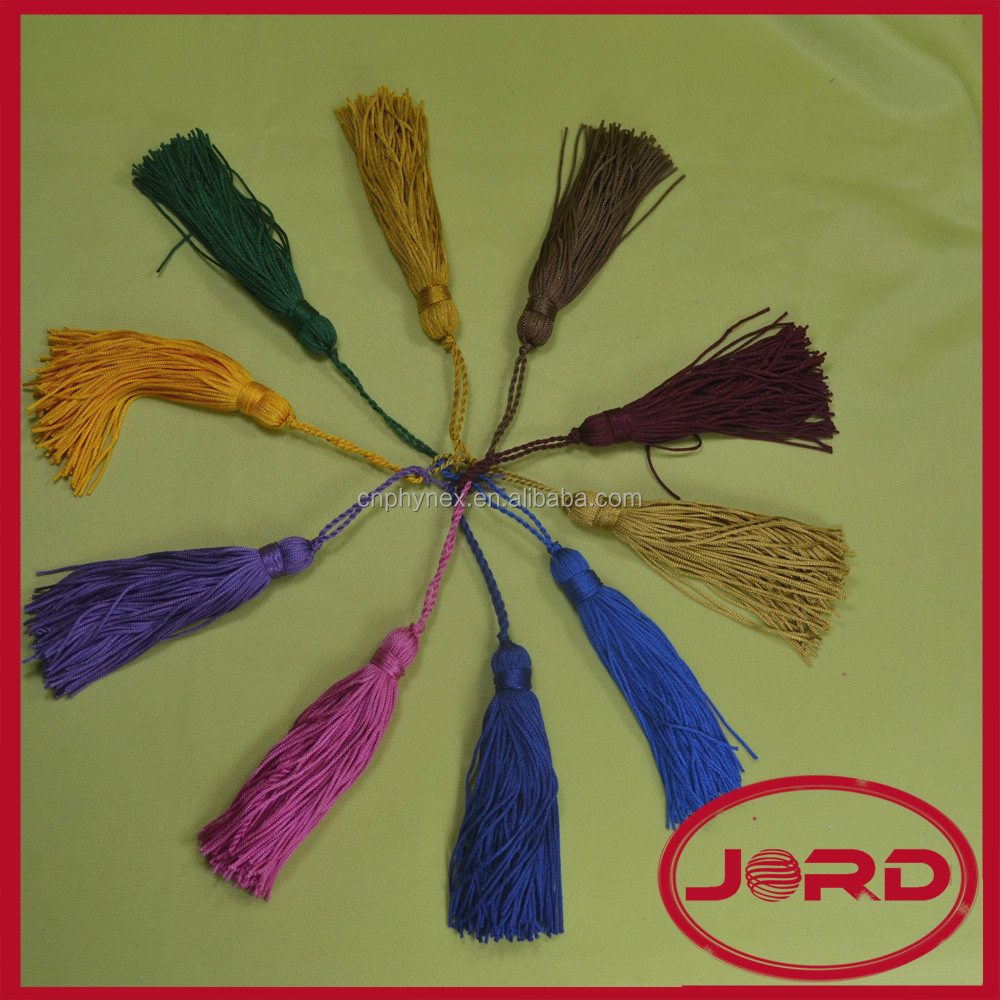 Colorful Decorative Polyester Small Tassel ,Tassel Fringe For Curtain