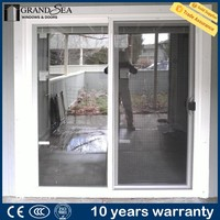 Guangzhou factory partition french style air infiltration sliding fly screen door for safety