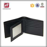 RFID blocking wallet with ID window flap wholesale leather wallet