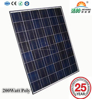 High efficiency Poly solar panels 200W 24V with CE, TUV certification
