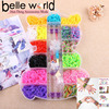 Rainbow Rubber Band Bracelet Loom Refill Kit Fun DIY for Kids bear-shape container/Storage Case