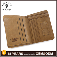 Italy Popular Design Quality Genuine Leather RFID Travel Wallet