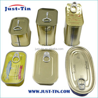 tin can for food packaging wholesale 3 piece metal food rectangular tin can for canned meat/luncheon meat 340g 200g 125g