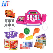 2018 new product Intelligent Supermarket Pretend Play Set Cash Register Toy For Kids