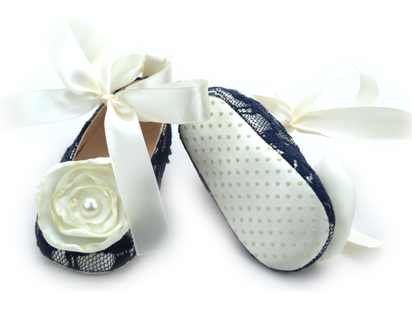 Wholesales Lace Flower Baby Dress Shoes For Girls