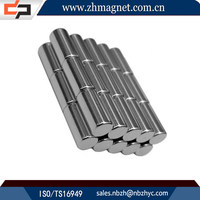 Magnetic stability permanent cylinder magnet with dot