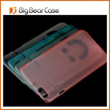 Smile face transparent clear mobile phone case for iphone 4 4s