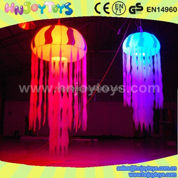 Party decoration inflatable led jelly fish lamp