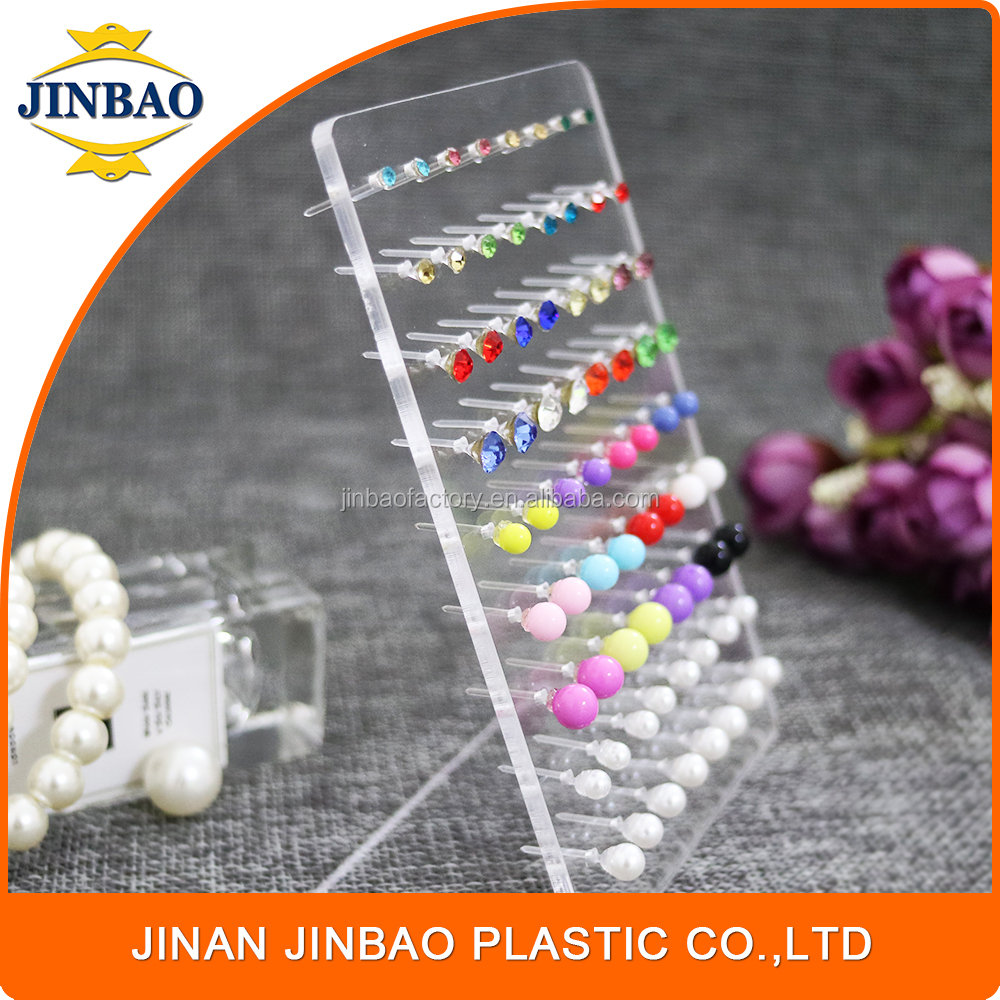 JINBAO new designs gold acrylic crystal clear ring earring box