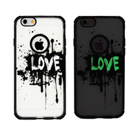 Hot Selling TPU+PC Matte Case for iphone 5 glow in the dark