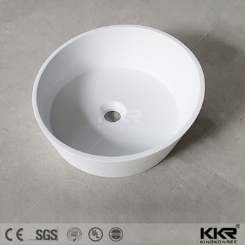 Best selling basin , solid surface design white solid surface washbasin