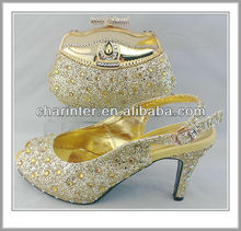 italian shoes and bags to match women(SB568 GOLD
