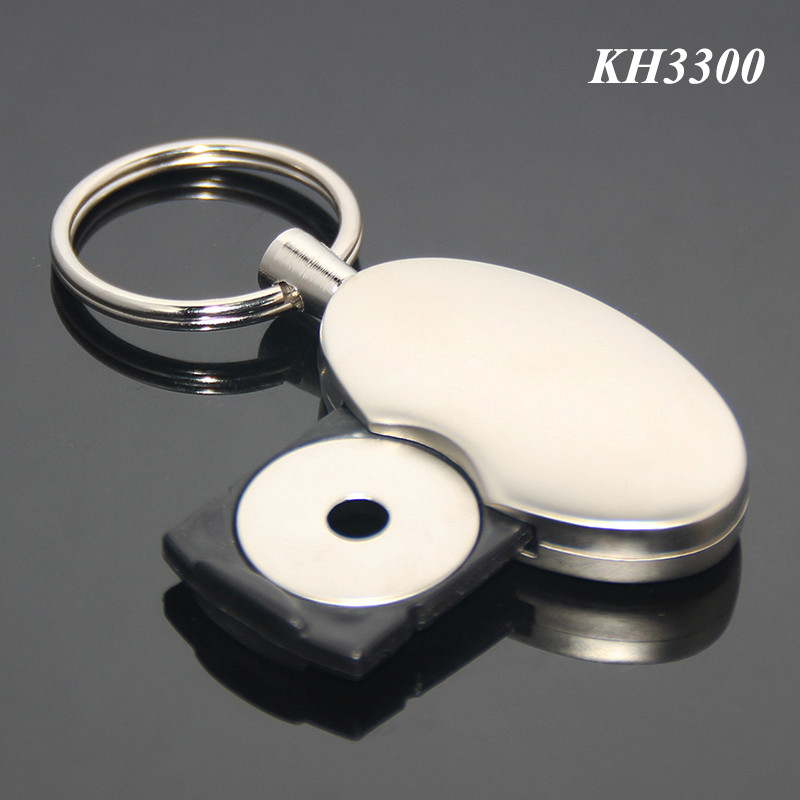 Plastic Tray Insert Egg Shaped Zinc Alloy Matt Silver Oval Metal Trolley Coin Key Holder