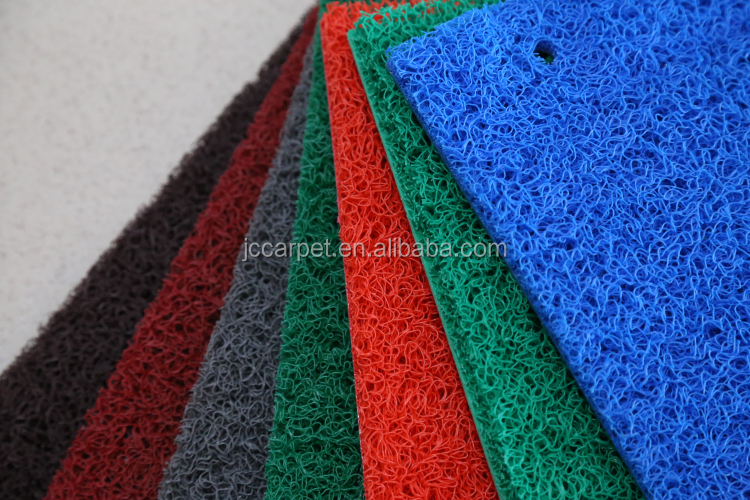 12mm thickness foam back washable pvc coil mat roll