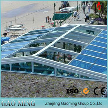20 Years experience/Alibaba trade assurance framing aluminum building tempered glass roof GM-5505