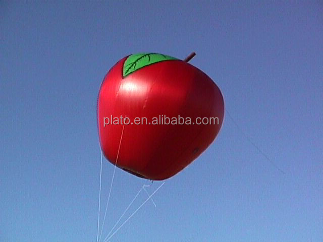 Inflatable flying apple/ Inflatable fruits/ Inflatable Helium Flying Ballooon for advertising