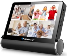 Multi-function 7inch capacitive screen P2P wifi h.264 network video serverNVS for 4channel view webcam camera