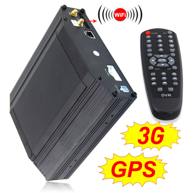 Security Hot sale 4 channel MDVR with GPS Wifi And 3G remote control used on Bus Truck and Taxi car camera dvr
