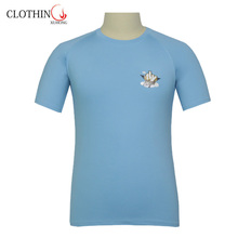 Bulk blue color round neck new pattern t-shirts