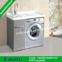 AJL-8307 pinghu china popular stainless steel laundry cabinets/bathroom vanity