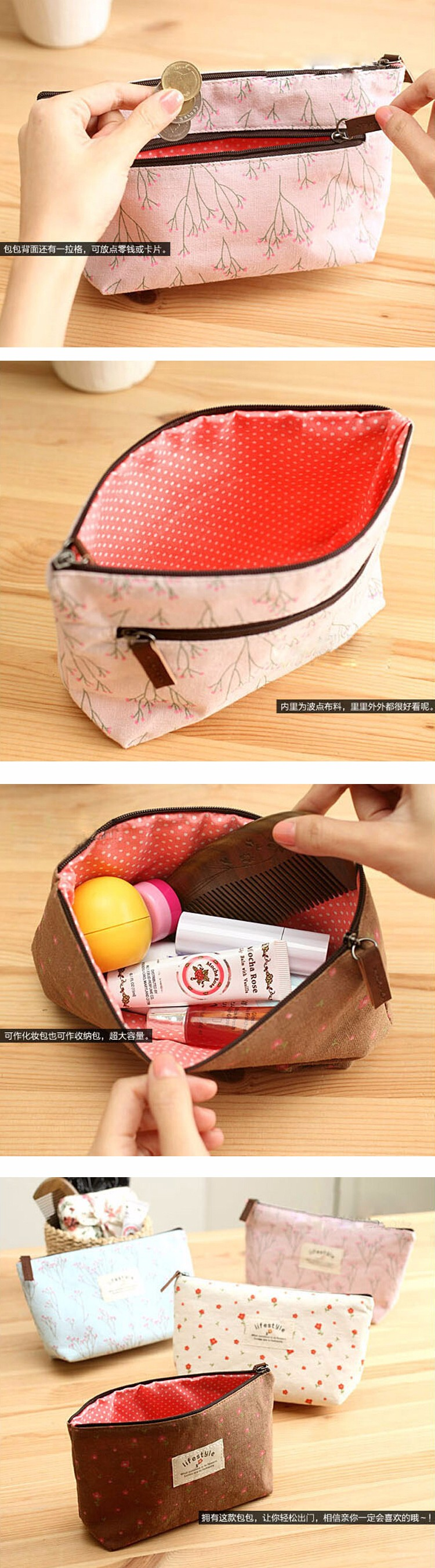 china alibaba online wholesale shop small cosmetic bag, canvas bag, promotional cosmetic bag