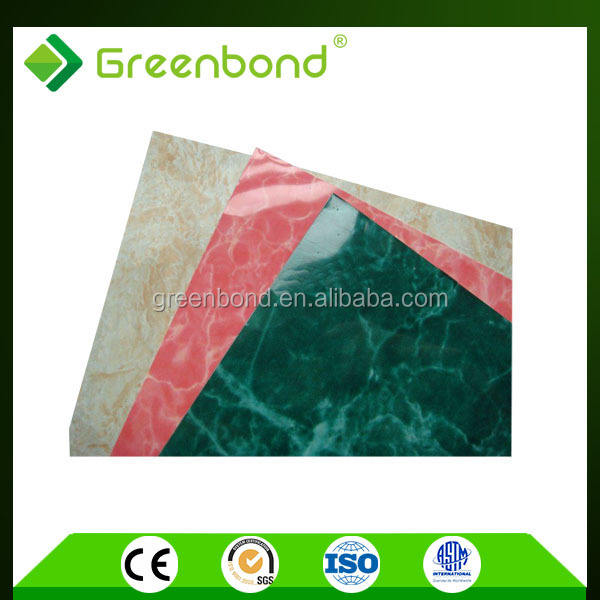 Greenbond anti-static colorful stone coated metal roofing acp design cladding sheet low price in kerala