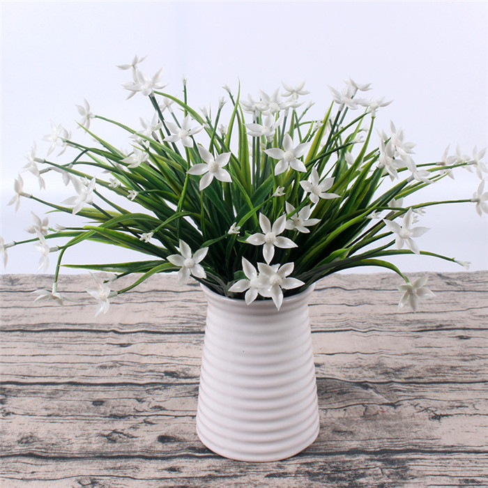 Butterfly Plastic Flower Green Grass Plants Artificial Fake Flores Decorative Flowers For Artificial Lawn Home Vase Decoration