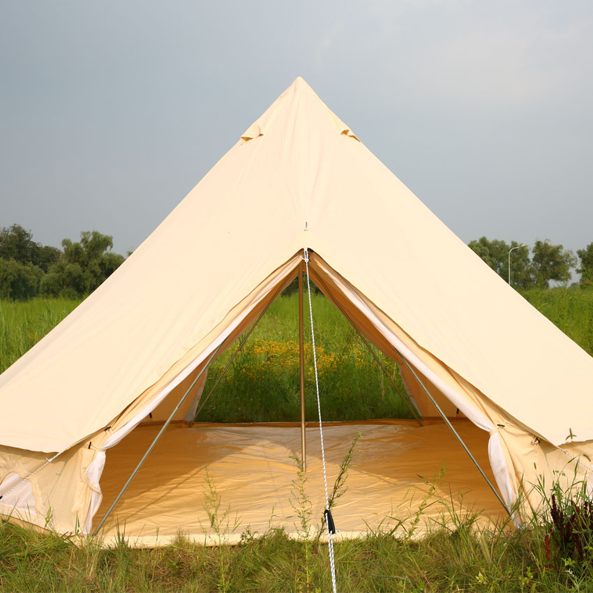 Natural Cotton Canvas Breathe 5 meter Bell Tents