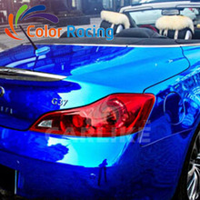 Hot selling 1.52x30m air free channel blue chrome car wrap film with best quality