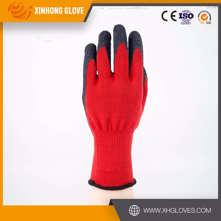 Xinhong direct buy china yellow nitrile impregnated fabric polar inner liner gauntlet style gloves