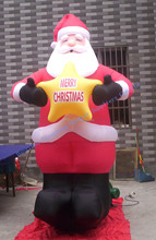 best selling inflatable fixed Christmas cartoon for promotional events
