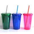 Bulk Sale Insulation Clear Plastic Tube Cup Japan with Straw