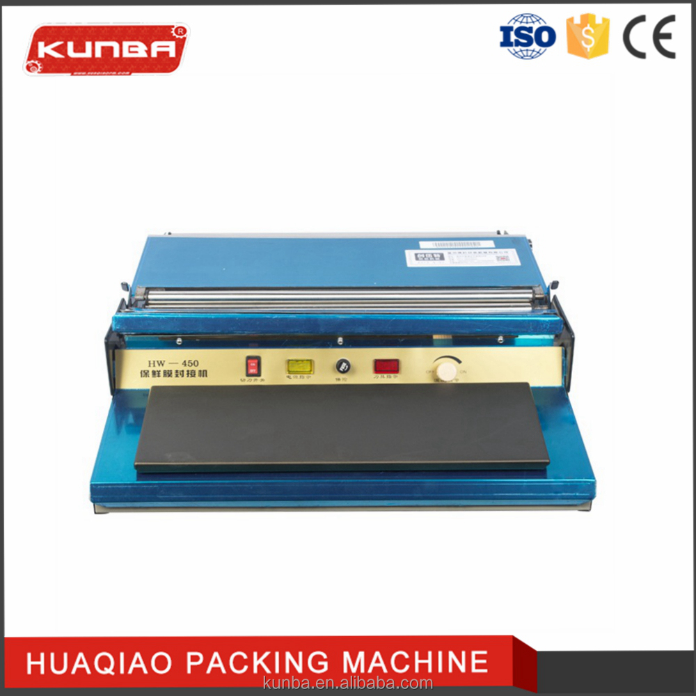 Food Manual tray sealing machine HW-450 film wrapping machine