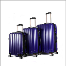 2016 top selling famous brand ABS hard travel luggage sets double zipper in baigou