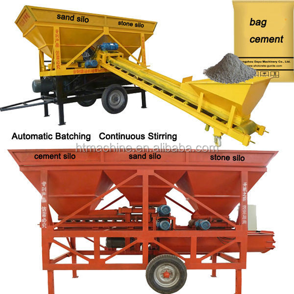2016 New Technology Mobile Small Concrete Batching Plant