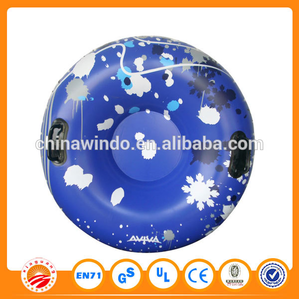 PVC plastic tyre round inflatable Snow scooter best price for children