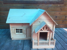 Prefab wooden dog house made with russia pine