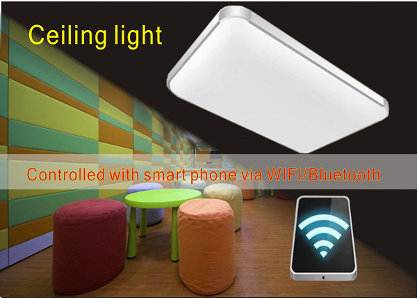 ceiling light controlled with smart phone via WIFI/Bluetooth