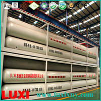 cng cascade skid 25Mpa cng tube trailer gas fuel tanks , seamless mother tube