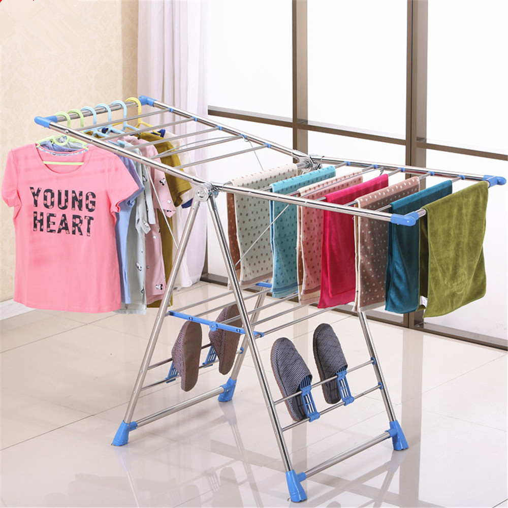 Laundry Products Stainless Steel Folding Drying Rack Clothes Dryer Hanger