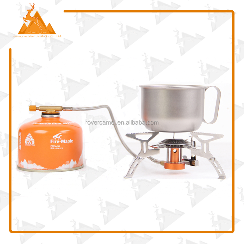 Electronic Stove with Box Portable Foldable Split Burner Folding Camping Gas Stove