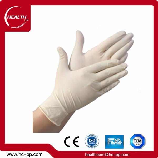 Medical powdered and powder free disposable vinyl gloves with FDA certificate
