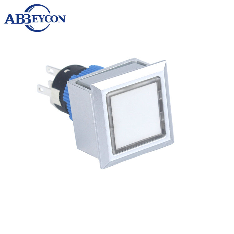 <strong>N11</strong> 2227 22mm industrial waterproof square plastic switch economical 12v green illuminated push button switch
