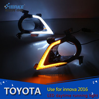 china supplier led daytime running light For 2016 toyota innova crysta With yellow turning light fog light drl