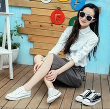 zm21685a Wholesale China canvas women shoes casual flat alibaba lady shoes