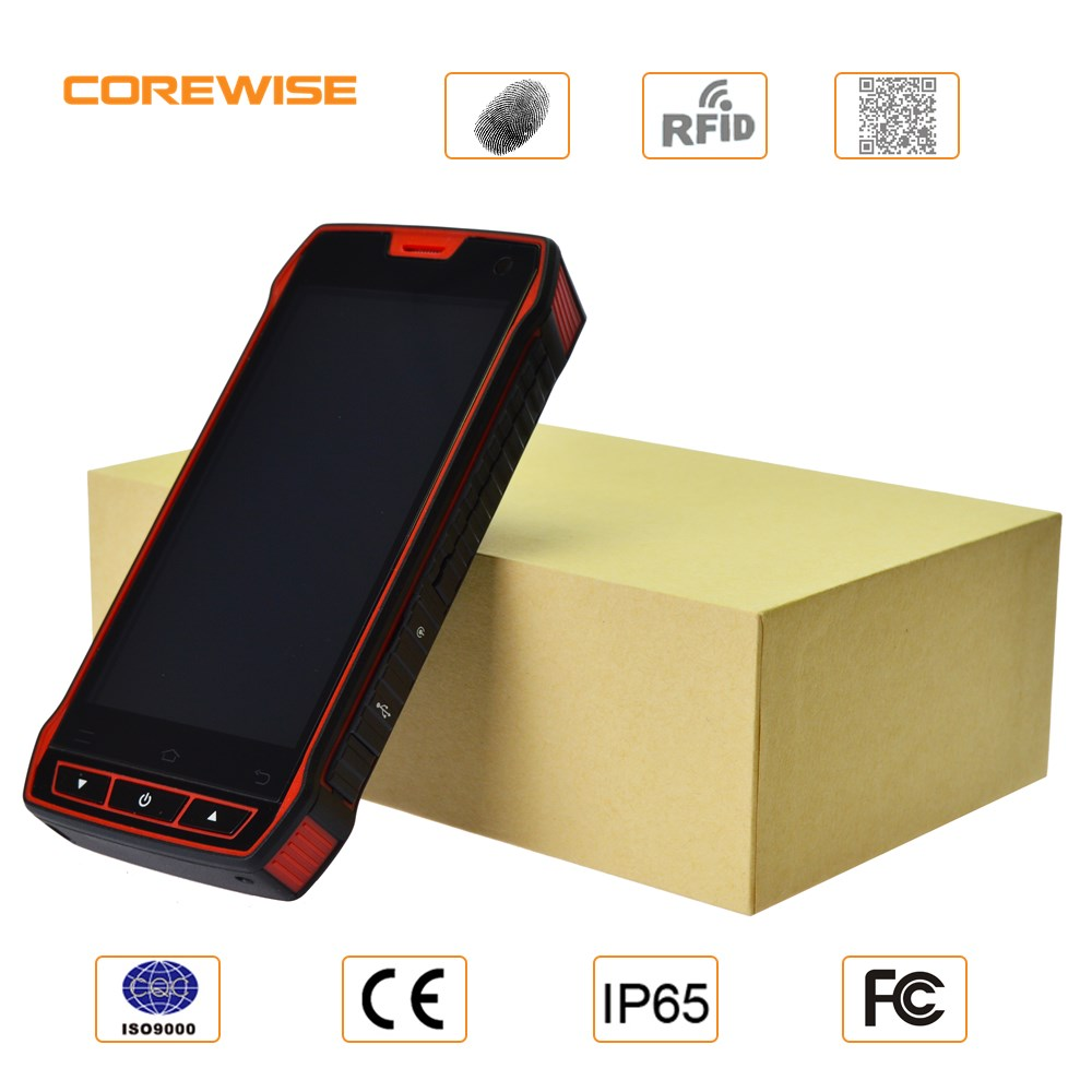 Cheapest factory industrial Android 4.3 inch industrial pda with fingerprint 1D 2D Barcode scanner