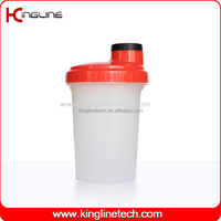 Healthy BPA free 500ml plastic protein shake bottle with filter (KL-7012D)