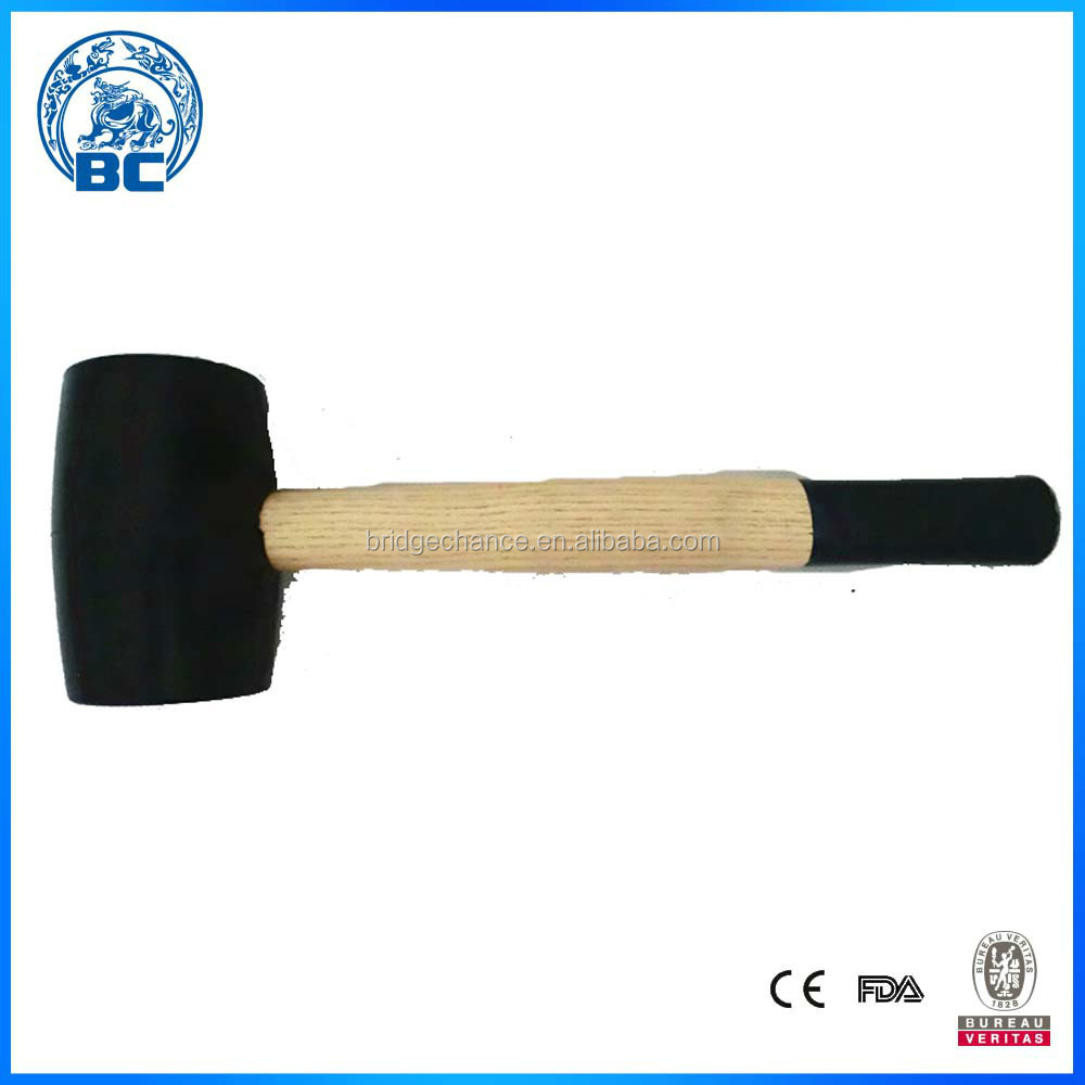 Rubber Hammers With Black Wood Handle 1/3 Color